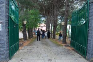La foto mostra il viale di ingresso di vEyes Land