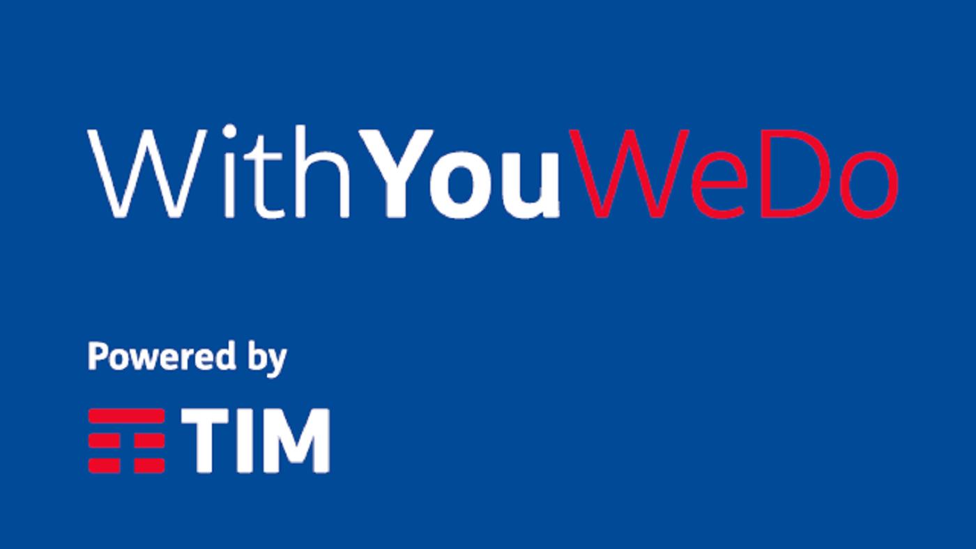 L'immagine mostra il logo del progetto WithYouWeDo di TIM