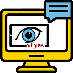 L'immagine mostra il logo di vEyes PC Assistant